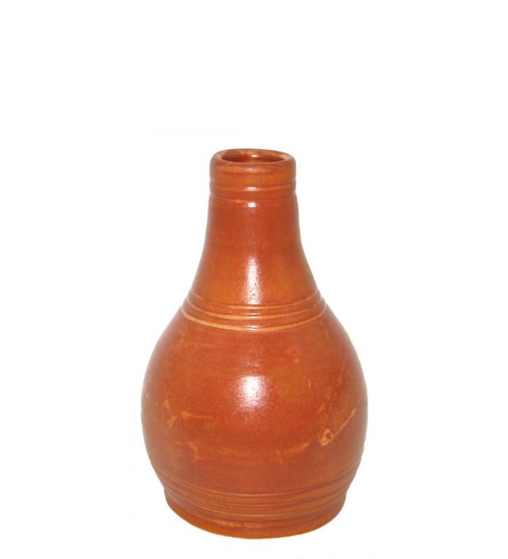 Pichet en terre cuite fait main au tour, artisanal, demi-litre
