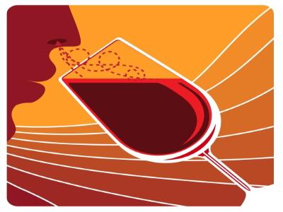 Olfactory examination of wine