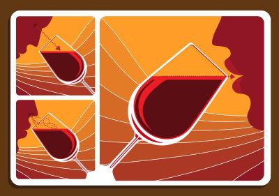 Wine tasting: visual examination